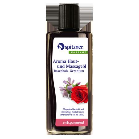 Масло массажное розовое дерево-герань spitzner
