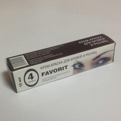 Крем-краска для бровей и ресниц (№4 графит) favorit (FAVORIT)