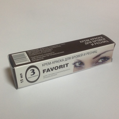 Крем-краска для бровей и ресниц (№3 коричневый) favorit (FAVORIT)