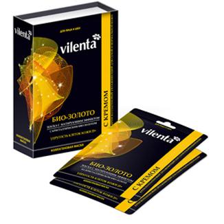 Коллагеновая маска био золото + крем vilenta (Vilenta)