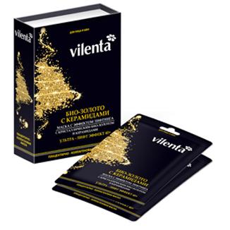 Плацентарно-коллагеновая маска био-золото и керамиды для области вокруг глаз vilenta (Vilenta)