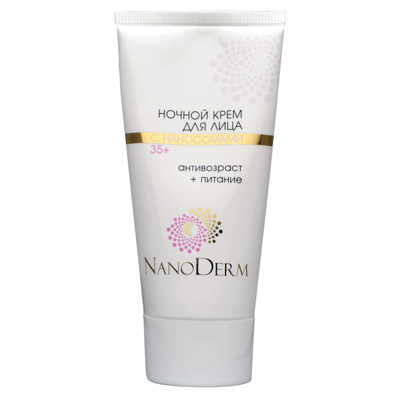 Ночной крем для лица с наносомами 35+ нанодерм (НаноДерм)
