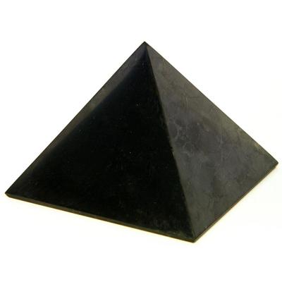 Пирамида из шунгита неполированная 4 см шунгит