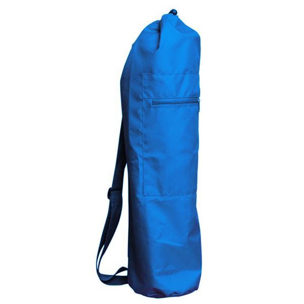 Чeхoл для коврика simple нейлон 80 см (синий) (Yoga)