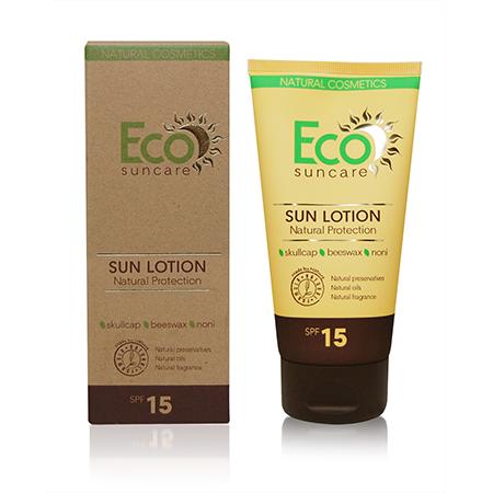Натуральное солнцезащитное молочко spf 15 eco suncare