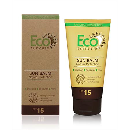 Натуральный солнцезащитный бальзам spf 15 eco suncare
