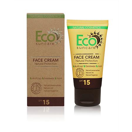 Натуральный солнцезащитный крем для лица spf 15 eco suncare (Eco Suncare)