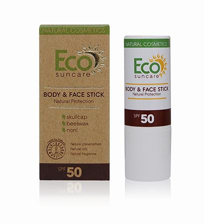 Натуральный солнцезащитный карандаш для чувствительных участков кожи лица и тела spf 50 eco suncare