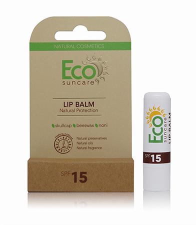 Натуральный солнцезащитный бальзам для губ spf 15 eco suncare