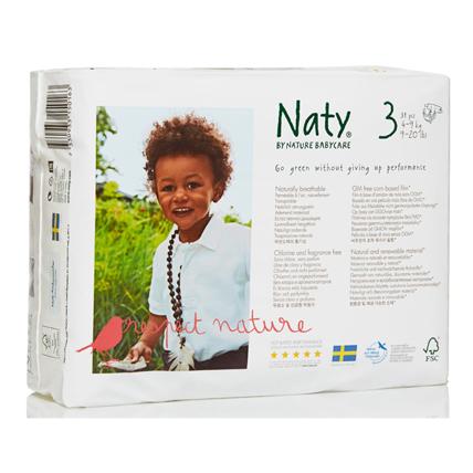 Подгузники размер 3 (4-9 кг) 31 шт  naty (Naty)