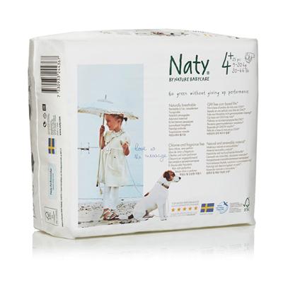 Подгузники размер 4+ (9-20 кг) 25 шт naty (Naty)