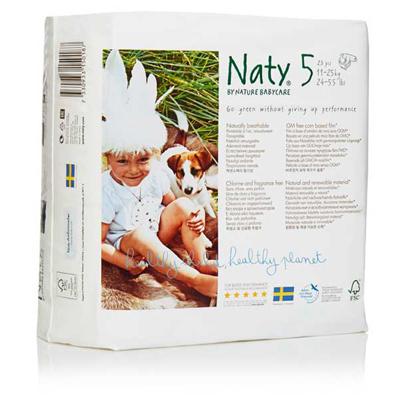 Подгузники размер 5 (11-25 кг) 23 шт naty (Naty)