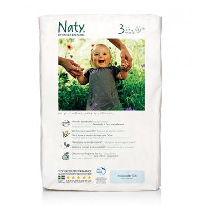 Подгузники размер 3 (4-9 кг) 52 шт naty