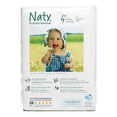 Подгузники размер 4+ (9-20 кг) 44 шт  naty (Naty)