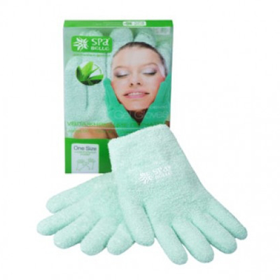 Увлажняющие гелевые перчатки цвет зеленый с алоэ spa belle (SPA Belle)