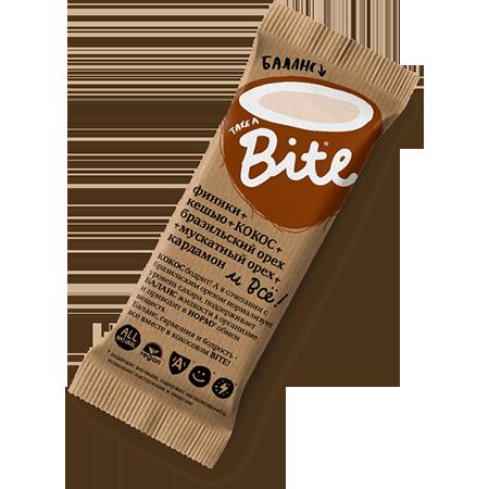 Батончик баланс, кокос-бразильский орех bite (Bite)
