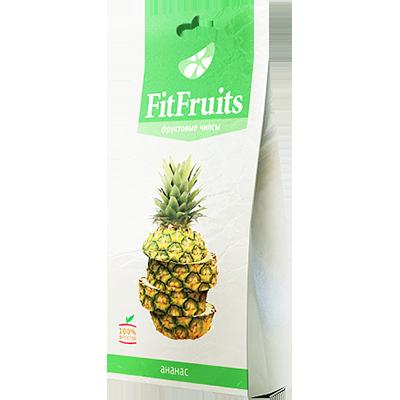 Фруктовые чипсы ананас fitfruits (FitFruits)