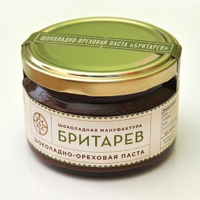 Ремесленная шоколадно-ореховая паста с фундуком бритарев (Бритарев)