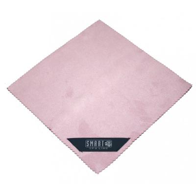 Салфетка для лица замша розовая белый кот