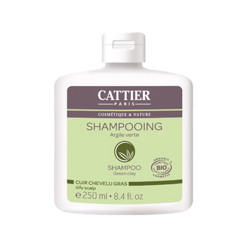 Шампунь для жирных волос с зеленой глиной cattier