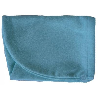 Тюрбан для сушки волос голубой белый кот