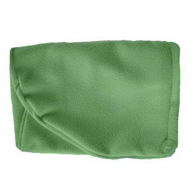 Тюрбан для сушки волос зеленый белый кот