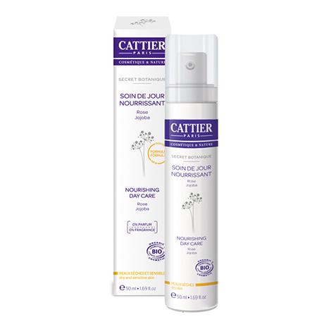 Крем дневной увлажняющий растительный секрет для сухой и чувствительной кожи cattier (Cattier)