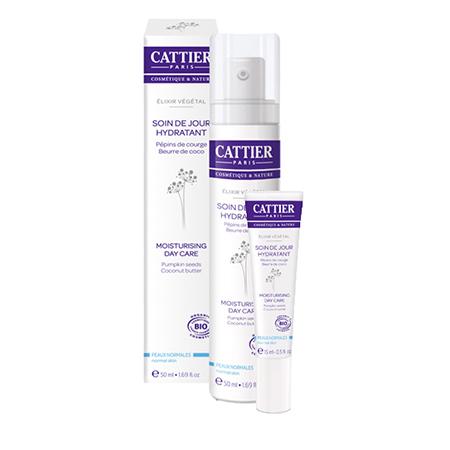 Крем дневной увлажняющий растительный эликсир для нормальной и комбинированной кожи cattier (Cattier)