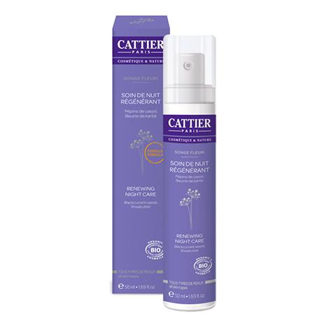 Крем ночной регенерирующий сон цветов для кожи любого типа cattier (Cattier)