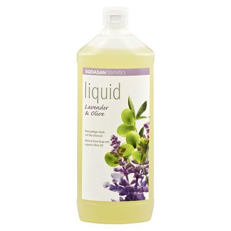 Жидкое мыло лаванда-олива 1000 мл sodasan