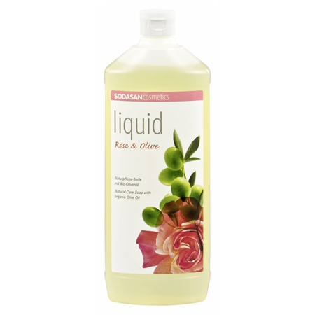 Жидкое мыло роза-олива 1000 мл sodasan (Sodasan)