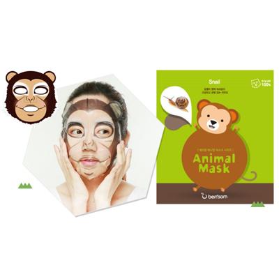 Тканевая маска animal с муцином улитки обезьянка berrisom (Berrisom)