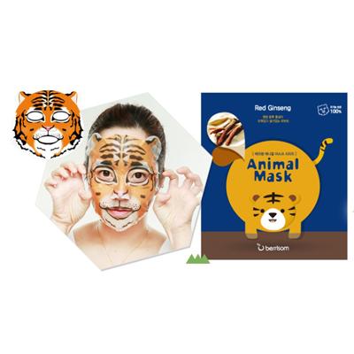 Тканевая маска animal с экстрактом женьшеня тигр berrisom