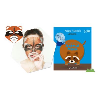 Тканевая маска animal с экстрактом плаценты енот berrisom (Berrisom)