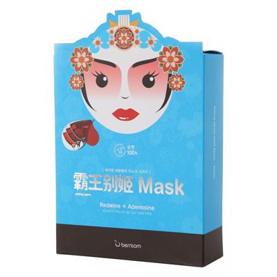 Тканевая маска peking opera с красным вином королева berrisom (Berrisom)