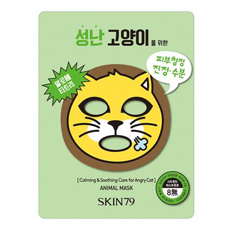 Тканевая маска для лица успокаивающая и смягчающая кожу animal mask for angry cat skin79 (SKIN79)