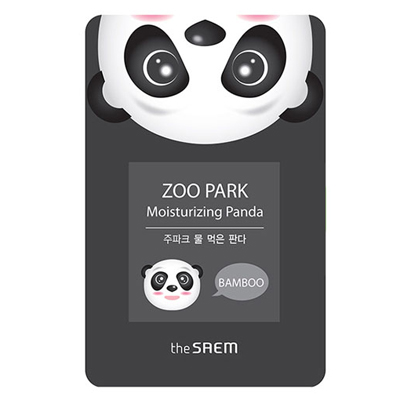 Увлажняющая тканевая маска с бамбуковой водой zoo park панда the saem