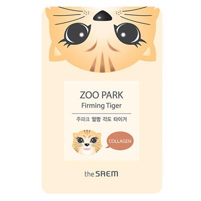 Укрепляющая тканевая маска с коллагеном zoo park тигр the saem (The Saem)