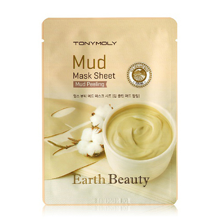 Маска для лица глиняная earth beauty mud mask sheet tony moly (Tony Moly)
