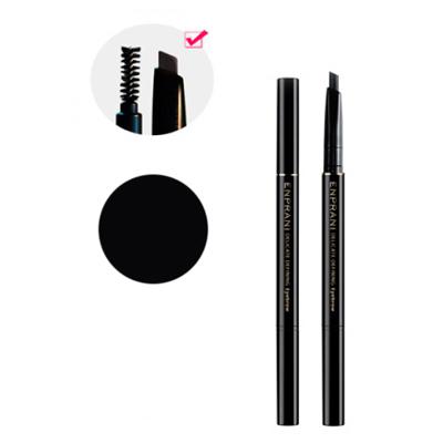 Двусторонний карандаш для бровей с щеточкой и рефилом 01-черный enprani (Enprani)