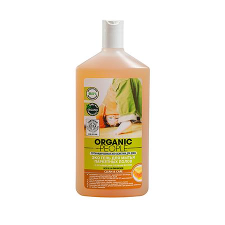 Эко гель для мытья паркетных полов cleancare organic people