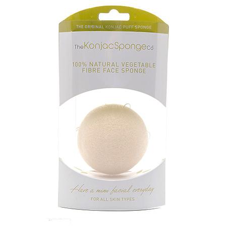 Спонж конняку для лица без добавок (премиум упаковка) the konjac sponge (The Konjac Sponge Company)