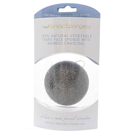 Спонж конняку для лица с древесным углем для жирной кожи (премиум упаковка) the konjac sponge (The Konjac Sponge Company)