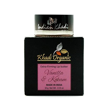 Укрепляющий бальзам для губ с ванилью и маслом кокума organic indian khadi (Indian Khadi)