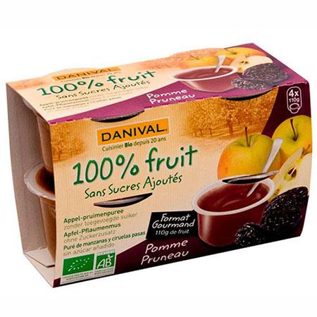 Фруктовый десерт яблоко - чернослив danival (DANIVAL)