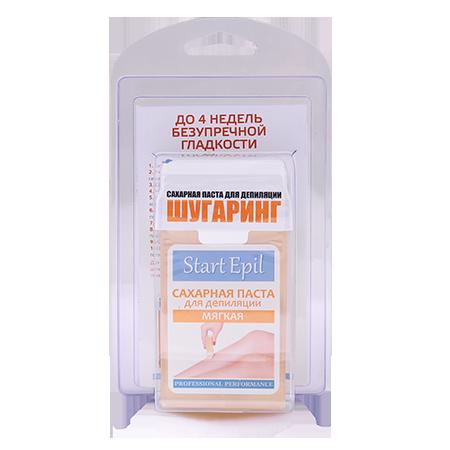 Набор для шугаринга (сахарная паста в картридже мягкая 100 г. + полоски для депиляции) start epil aravia (Aravia)