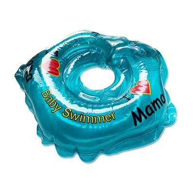 Детский надувной круг для купания голубой полноцветный baby swimmer (Baby Swimmer)