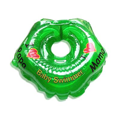 Детский надувной круг для купания зеленый полноцветный baby swimmer (Baby Swimmer)
