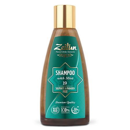Натуральный шампунь для всех типов волос с мятой №19 зейтун