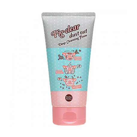 Очищающая пенка для лица pig clear dust out deep cleansing foam holika holika (Holika Holika)